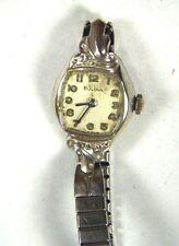 Vintage LADIES BULOVA SWISS 10K RGP WRISTWATCH w/ Speidel Band, Parts or Repair