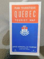 TOURIST MAP QUEBEC CANADA SIGHT SEEING MOTOR COACH TOURS GRAY LINE ADVERTISING