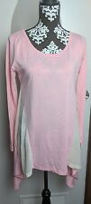 Allegra K boutique like top size small pink long sleeve mesh