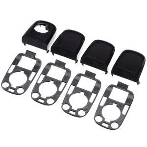 8x L&R Door Handle End Cap With Seal Kit Fit For Peugeot 307/Citroen C2 C3