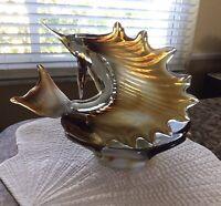 Vintage Murano Art Glass Sailfish Swordfish Marlin Candy Dish Marine Ashtray