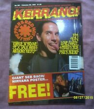 KERRANG No.381-RED HOT CHILI PEPPERS,LOVE/HATE,GUN etc