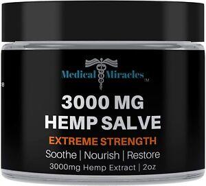 Medical Miracles Hemp 3000 Mg Extreme Strength Healing Salve   100% Natural