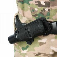 Nylon Flashlight Pouch Holster Belt Carry Case Holder With 360 Degrees Rotat