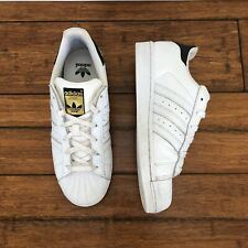 Adidas Unisex Superstar White Lace-Up Low-Top Sneakers - Size 38