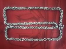 """32"""" Unique Style Stainless Steel Necklace For Hanging Maximum 5 Thai Amulets"""