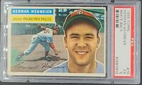 1956 Topps #78 Herman Wehmeier WB White Back Phillies PSA 5 Excellent