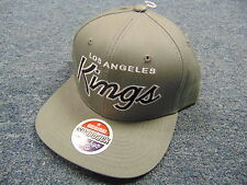 NEW ZEPHYR NHL LOS ANGELES KINGS GRAY SCRIPT SNAPBACK HAT