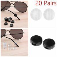 40 Round Silicone Ear Hooks Anti Slip Temple Tip for Eyeglasses Glasses Sport