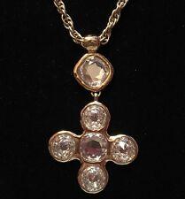 Yves Saint Laurent Byzantine Cross Necklace/Earrings Set by Robert Goosens