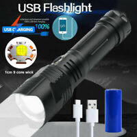 Powerful XHP100 LED Flashlight 26650 USB Rechargeable Zoom Torch Light XHP50