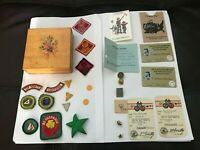 Collection of Boy Scout & Girl Scout items 1950's