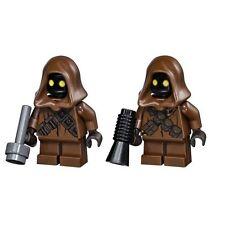 LEGO STAR WARS LOT OF 2 MINIFIGURE JAWA WITH BLASTER GUN SANDCRAWLER 75059