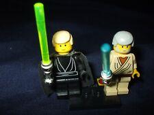 Lego Minifigures Ben Kenobi and Master Luke Skywalker