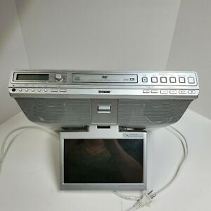 "Sony ICF-DVD57TV Under Cabinet 9"" LCD-TV/DVD Kitchen Clock Radio- Tested Working"