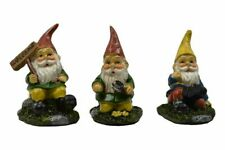 Miniature Fairy Garden Set of 3 Gardening Gnomes - Buy 3 Save $5