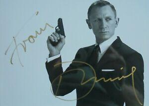 """Daniel Craig orig. Autogramm """" JAMES BOND 007 """"  Motiv 13x18 s/w"""