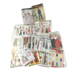 Lot 3 lbs Sewing Patterns 1990s Simplicity Butterick McCalls Vogue Adult Women S