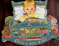 ROCK-A-BYE, BABY ~Rare Eloise Wilkin Shape Children's Nursery Rock It Book