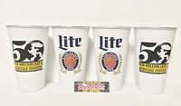 Miller Lite Lot of (4) 16 oz 50th New Orleans Jazz Festival Cups - Brand New!!