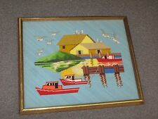 "Vintage Fine Hand Made Stitched Needlepoint 17"" x 20"" - 15"" x 19"""