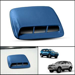 BLUE FRONT BONNET HOOD SCOOP TRIM COVER FOR TOYOTA HILUX FORTUNER SW4 05-2011