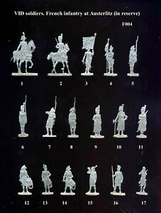 VID soldiers F004 - Flat tin soldiers - French infantry at Austerlitz 1805