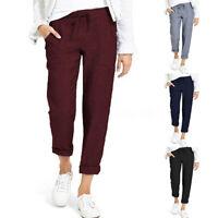 Mode Femme Pantalon Poches Taille elastique Loisier Simple Loose Longue Plus