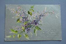 R&L Postcard: Greetings, Birthday, Embossed Raphael Tuck, Floral, Flowers
