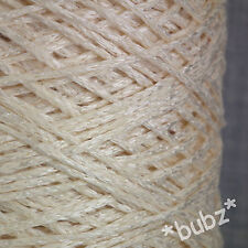 COTTON VISCOSE TAPE CHAINETTE YARN BIG 500g CONE 10 BAL DOUBLE KNITTING 4 PLY DK
