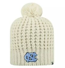 a3772e4160d New Top Of The World UNC Tarheels Pom Beanie Cream One Size Women s Cable  Knit