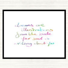 Dreams Are Illustrations Rainbow Quote Mouse Mat Pad