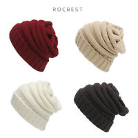 Unisex Chunky Soft Knitted Warm Winter Beanie Hat