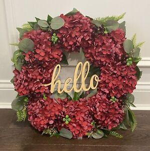 Front Door Wreath 18 Inch Hydrangea Wreath