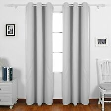 Deconovo Room Darkening Thermal Insulated Blackout Grommet Window Curtain Panel