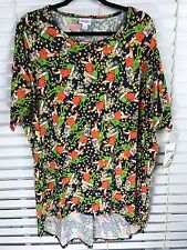 LuLaRoe Disney Collection Irma Large Muppets Kermit Miss Piggy Navy Blue