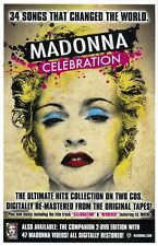 Madonna Celebration promo poster : 11 x 17 inches : Madonna poster