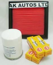 Se adapta a Nissan Micra k11e 1.0 1.3 Kit de servicio de partes de aceite / Filtro De Aire Y Bujías