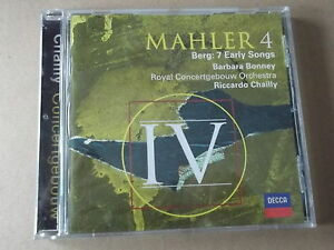 Mahler symphony 4; Berg: 7 Early Songs - CHAILLY/ BONNEY (2000) CD nr mint
