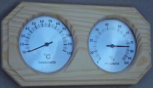 Sauna  Thermohygrometer 2 dial