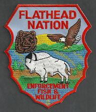 FLATHEAD NATION MONTANA TRIBAL FISH & WILDLIFE ENFORCEMENT POLICE PATCH