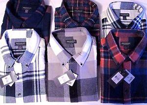 NWT Men's  John Bartlett Consensus plaid Flannel Shirts Retails $49.50 - $55