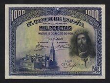 F.C. 1000 PESETAS 1928 , SIN SERIE , S/C- , MARGENES UN POCO MALTRATADOS  .