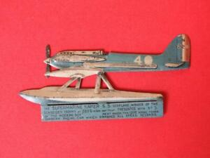 LITHOGRAPHED TINPLATE SUPERMARINE NAPIER SEAPLANE FROM THE MODERN BOY COMIC 1928