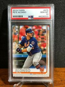 2019 Topps Series 2 PETE ALONSO Mets rc #475 ROOKIE Gem Mint PSA 10