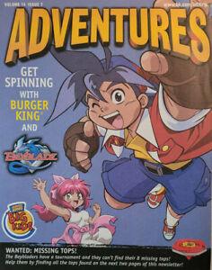 Burger King Adventures 2003 Kids Activity Magazine Vol 14 Issue 7 BeyBlade