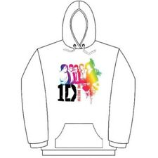 Medium Women's One Direction Hooded Top - Rainbow Group White Ladies