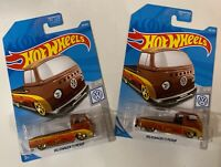 2019 Hot Wheels VW T2 Pickup lot of 2 New Fifteen52 FREE SHIPPING