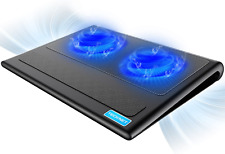 New  Laptop Cooling Pad  Quiet  Stand with 2 USB Powered Fans |2Days Delivery