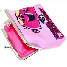 Little Miss Chatterbox Pink Clip Top Coin Purse Canvas